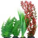 Plastic Plant 4 pack mix 1